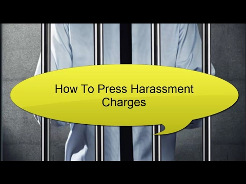 How To Press Harassment Charges | Call (647-983-6720)