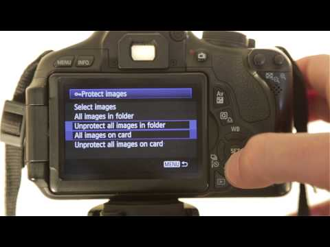 How to Protect (Lock) your Images via Menu Options on a Canon Rebel T3i / T4i / T5i