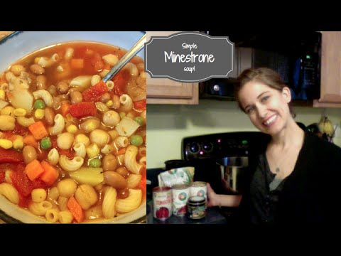 Minestrone Soup - How to make a quick simple vegetarian soup