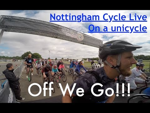 Nottingham Cycle Live 2017 on a unicycle