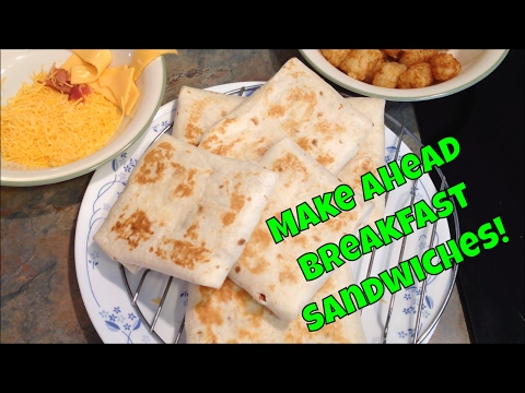 Easy Make Ahead Breakfast Sandwiches - Good For The Freezer