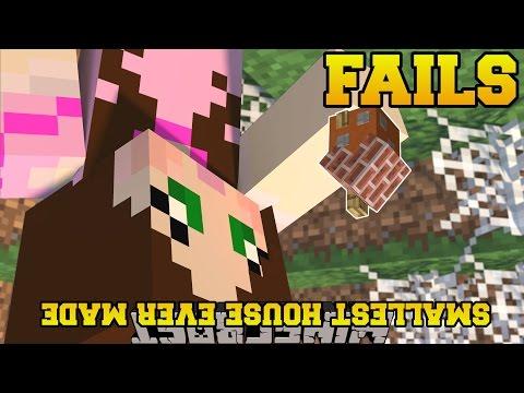 Minecraft: TINY HOUSE FAILS - MINECRAFT FAILS