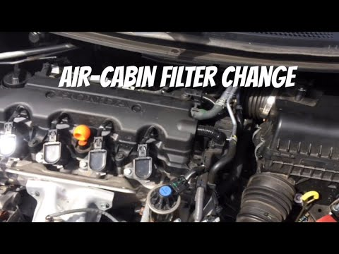 Honda Civic 9th Gen 1.8 petrol Air filter And Cabin Filter Change