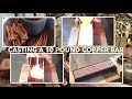 Download  10 pound Copper Bullion Bar Poured from scrap BIGGEST HOME POURED COPPER BAR ON YouTube MP3,3GP,MP4