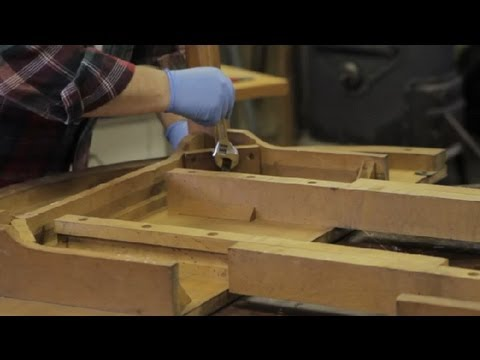 How to Attach Furniture Legs With Screws & Washers : Furniture Repair & Refinishing