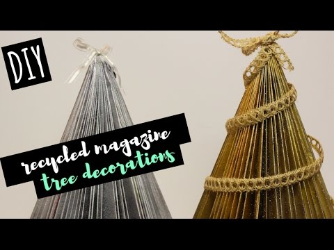 DIY Decor | Recycled Magazine Christmas Tree
