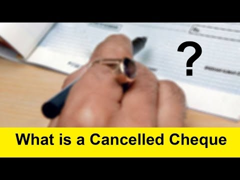 What is a Cancelled Cheque | How to Make a Cancelled Cheque | Tamil Banking