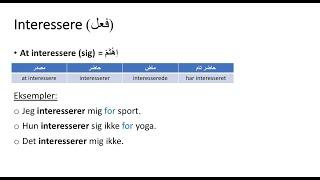 (149) Interesse, Interessere, Interesseret معنى