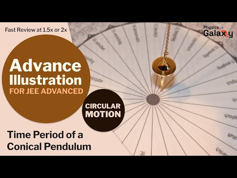 8. Physics | Circular Motion | Time Period of a Conical Pendulum | by Ashish Arora