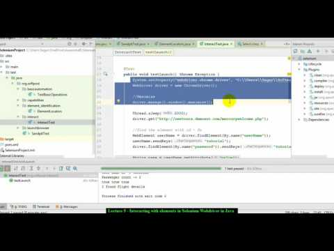 Lecture 9 : Interacting with Elements in Selenium Webdriver in Java