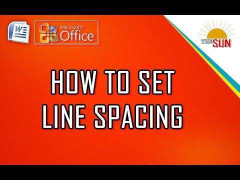 HOW TO SET LINE SPACING l MICROSOFT WORD 2007 l BANGLA TUTORIAL