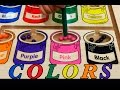 Let's play kids. learn colors with paint buckets.