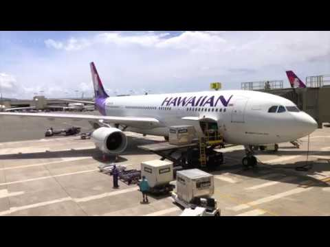 Hawaiian Airlines First Class A330 Honolulu to San Francisco April 18th 2018 Flight