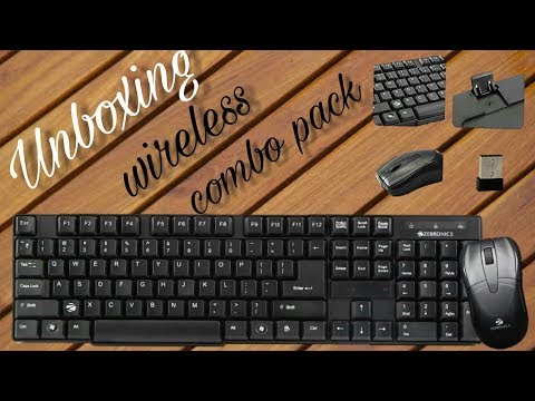 Unboxing 'Zebronics Companion 6 Wireless Keyboard and Mouse Combo' @ ₹999