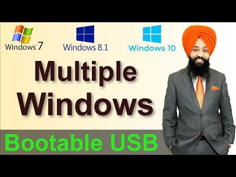 Multiple Windows in Bootable Pen Drive in HINDI / URDU