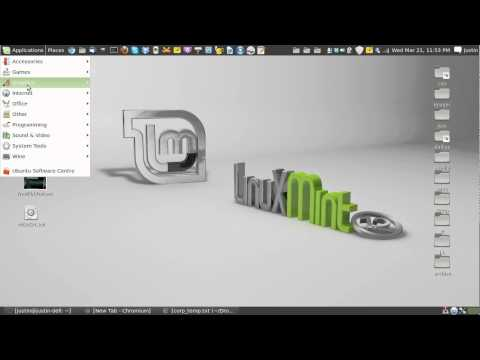 access the welcome screen from linux mint 13