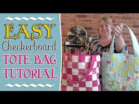 EASY Checkerboard Tote Bag Tutorial