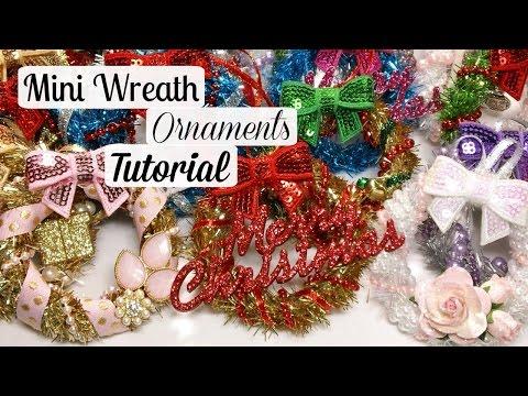 HoliDIY: Mini Wreath Ornaments + Tutorial!