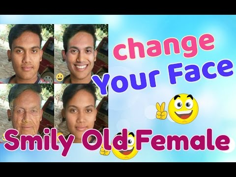 Transform your face Into beautiful smile, Get younger or older, Change gender