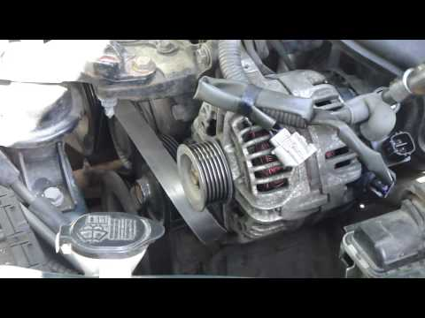 How to change alternator Toyota Corolla. VVT-i engine.Years 2000-2008