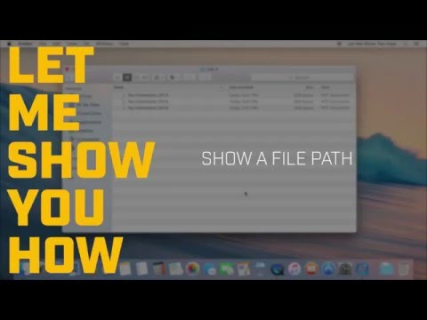 How do I find a file path on the Mac?