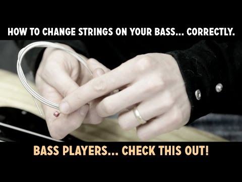 How to change strings on (restring) your bass... correctly. Watch this!