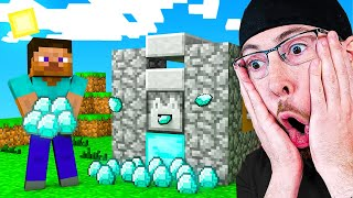 IF YOU LAUGH YOU DELETE MINECRAFT CHALLENGE Unlimited Diamond HACK In Minecraft Animations