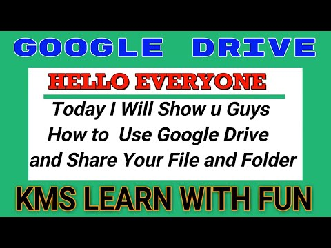 HOW TO USE GOOGLE DRIVE __ Share File and Folder and Picture