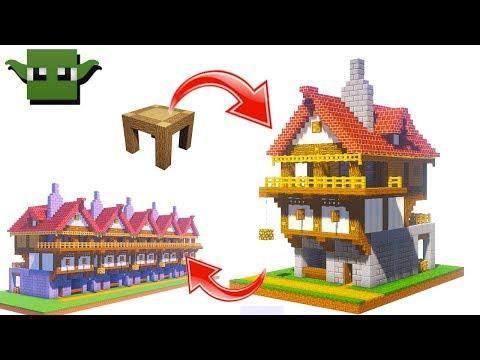 Minecraft Medieval Row House Tutorial (EASY 5X5 BUILDING SYSTEM)