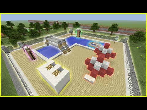 Minecraft Tutorial: How To Make A Public Swimming Pool