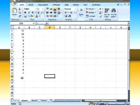 Finding The Median In Excel