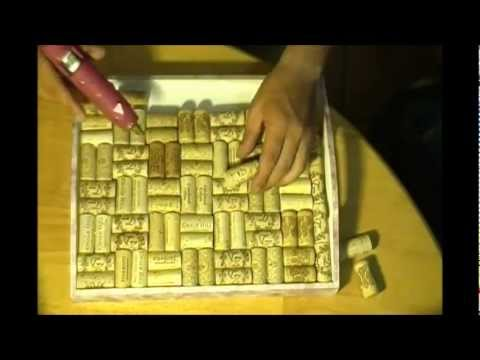 How to make a tray with corks