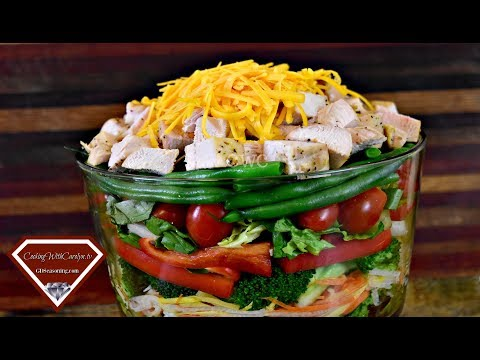 The BEST Layered Chicken Salad Recipe - GREAT SUMMER TIME RECIPE, EAT FRESH!! |Cooking With Carolyn