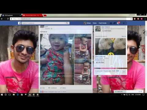 how to set your own photo in the facebook background
