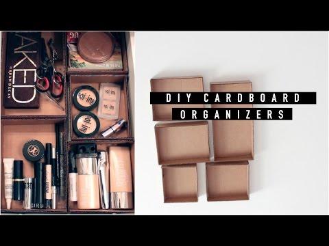 DIY MAKEUP ORGANIZER WITH CARDBOARD | CatCreature