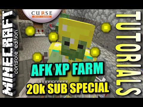 Minecraft - AFK XP FARM - AUTOMATIC - Tutorial ( PE /PS4 / XBOX / PS3 / WII U )