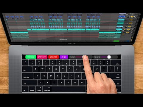 Making Music Using the Touch Bar on a MacBook Pro
