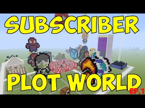 🔴LIVE Minecraft - Subscriber Plot World - PS4 - Ep1