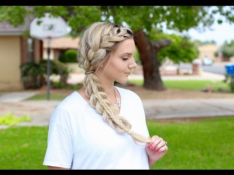 How to: French Braid into a Stacked Braid