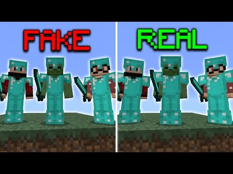 FAKE Full Diamond Armor Challenge in Minecraft Pocket Edition (Skywars Trolling)