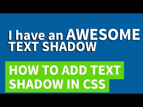 Text shadow CSS | Quick tutorial