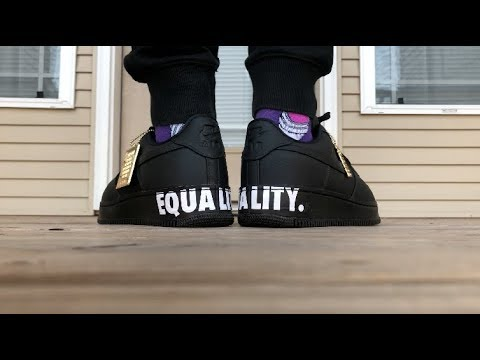 brand new 97810 aa57d Nike Air Force 1 Black History Month EQUALITY On Foot Look ...