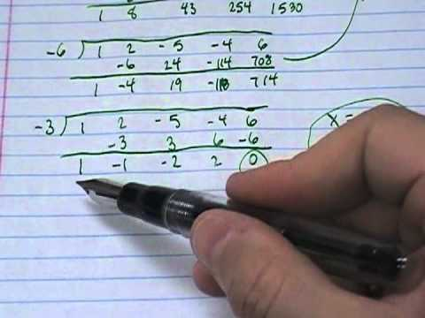 Using the rational roots theorem to find all zeros for a polynomial