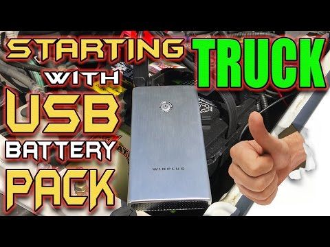 Jump Starting Car Battery with USB Battery Pack!