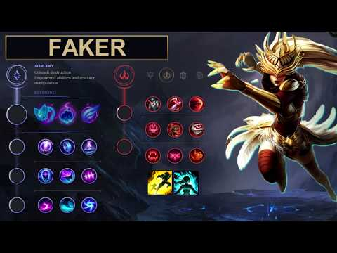 SKT Faker Build Syndra - New Runes Season 8 solo vs Twisted Fate (League of Legends Guide)