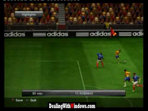 Brazil Vs France 2-1 Final world cup highlights in PS3 PES2010 game