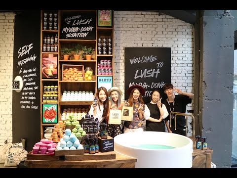 Lush Myeongdong Station Shop Tour in Seoul, South Korea