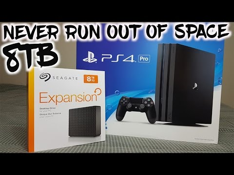 HOW TO SET UP EXTERNAL HARD DRIVE PS4 PRO + 8TB INSTALL | NEVER RUN OUT OF SPACE!!!!