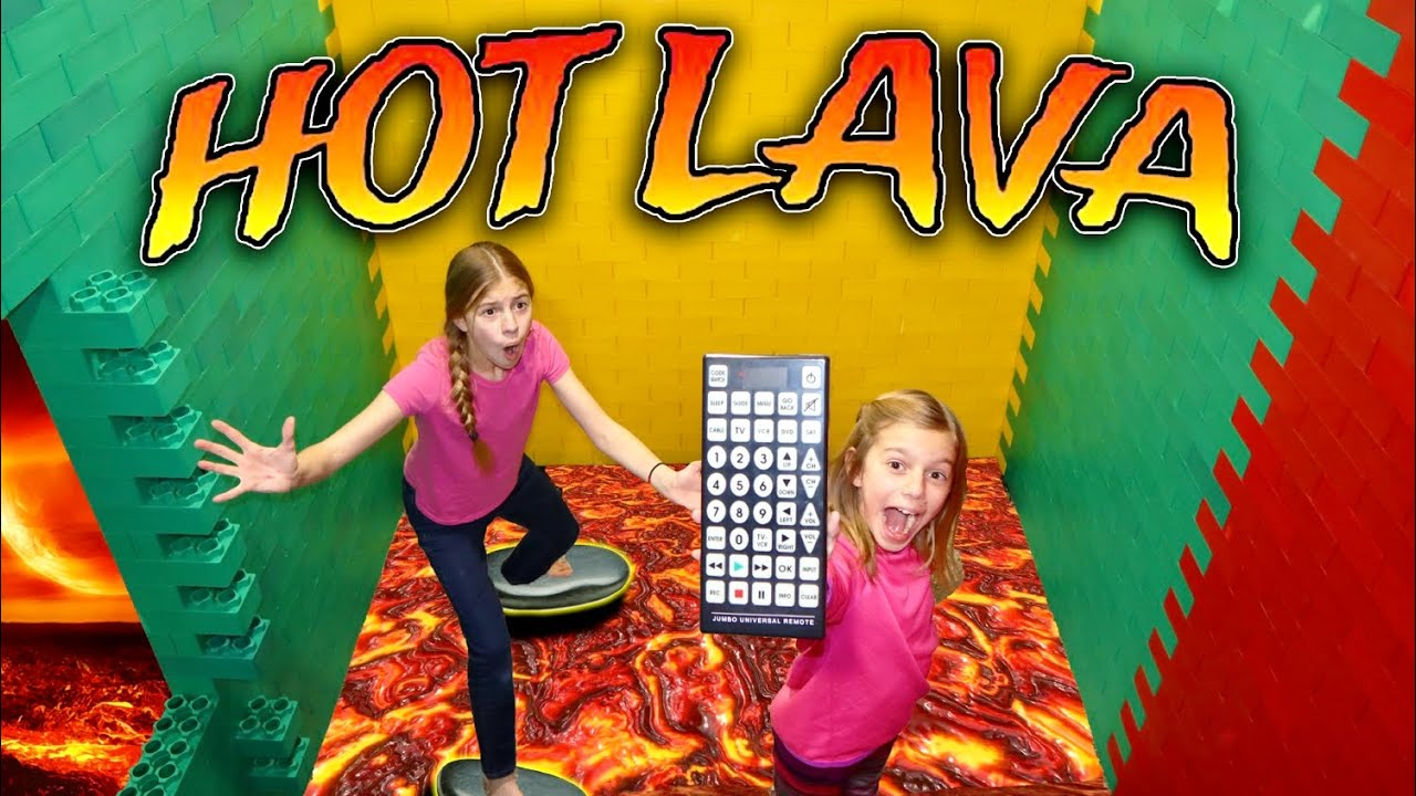 Escape Lava Floor In HUGE Lego Castle Fort! Tannerites Sisters Use Pause Remote!
