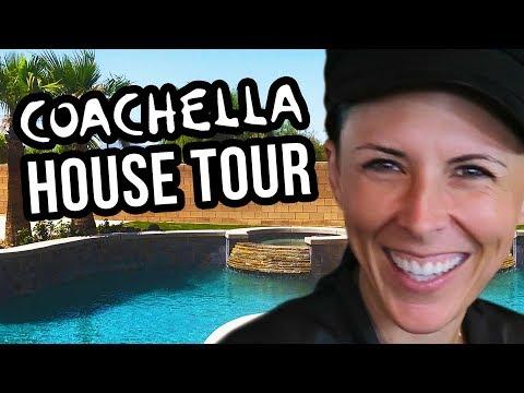COACHELLA HOUSE TOUR! Car Singing & Pool Party